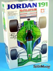 Tamiya: Model car kit 1/20 scale - Jordan Ford 191 7UP #32, 33 - Andrea de Cesaris (IT), Bertrand Gachot (LU) - FIA Formula 1 World Championship 1991 - plastic model kit