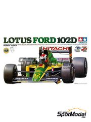 Tamiya: Model car kit 1/20 scale - Lotus Ford Type 102D Hitachi #11, 12 - Johnn 'Johnny' Herbert (GB), Mika Häkkinen (FI) - World Championship 1992