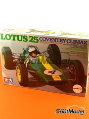 Tamiya: Model car kit 1/20 scale - Lotus 25 Coventry Climax #1, 4, 18, 23 - Jim Clark (GB) - World Championship 1962, 1963 - plastic model kit