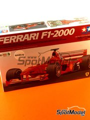Tamiya: Model car kit 1/20 scale - Ferrari F1 2000 Shell #3, 4 - Michael Schumacher (DE), Rubens Barrichello (BR) - French Grand Prix 2000 - plastic model kit image