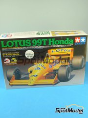 Tamiya: Model car kit 1/20 scale - Lotus Honda 99T ELF #11, 12 - Ayrton Senna (BR), Satoru Nakajima (JP) - FIA Formula 1 World Championship 1987 - plastic model kit