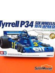 Tamiya: Model car kit 1/20 scale - Tyrrell Ford P34 Six Wheels ELF #3, 4 - Jody Scheckter (ZA) - Japan Grand Prix 1976 - photo-etched parts, plastic parts, rubber parts, water slide decals, assembly instructions and painting instructions