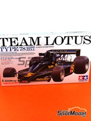 Tamiya: Model car kit 1/20 scale - Lotus Ford Type 78 Valvoline #5, 6 - FIA Formula 1 World Championship 1977 - plastic and photo-etched parts