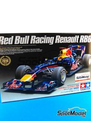 Tamiya: Maqueta de coche escala 1/20 - RB Racing Renault RB6 Total Nº 5, 6 - Sebastian Vettel (DE), Mark Webber (AU) - Campeonato del Mundo de Formula1 2010 - maqueta de plástico