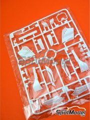 Tamiya: Spare part 1/20 scale - Ferrari SF70H: Sprue C - plastic parts - for Tamiya references TAM20068 and 20068