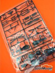 Tamiya: Spare part 1/20 scale - Ferrari SF70H: Sprue E and F - plastic parts - for Tamiya references TAM20068 and 20068