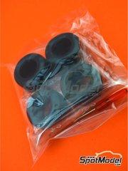 Tamiya: Pieza de reemplazo escala 1/20 - Ferrari SF70H: Neumáticos - piezas de goma y otros materiales - para las referencias de Tamiya TAM20068 y 20068