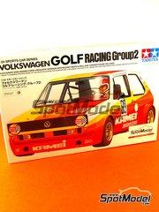Tamiya: Model car kit 1/24 scale - Volkswagen Golf Mk I Racing Group 2 Kamei #19, 63, 47 - European Touring Car Championship 1974 - plastic model kit