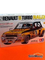 Tamiya: Maqueta de coche escala 1/24 - Renault R5 Turbo ELF Nº 9 - Jean Ragnotti (FR) - Rally de Montecarlo 1981 - maqueta de plástico