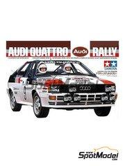 Tamiya: Model car kit 1/24 scale - Audi Quattro Rally 1983