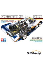 Tamiya: Model car kit 1/24 scale - Porsche 956 Rothmans - 24 Hours Le Mans 1983