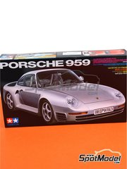 Tamiya: Model kit 1/24 scale - Porsche 959 - plastic parts, rubber parts, water slide decals, assembly instructions and painting instructions
