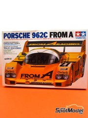 Tamiya: Model car kit 1/24 scale - Porsche 962C From A #27 - 24 Hours Le Mans 1989 - paint masks, plastic parts, rubber parts, water slide decals, assembly instructions and painting instructions image