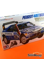 Tamiya: Model car kit 1/24 scale - Peugeot 405 Turbo 16 Pionner #204, 206 - Ari Vatanen (FI) + Bruno Berglund (SE), Jacques Bernard 'Jacky' Ickx (BE) + Christian Tarin (FR) - Paris Dakar Rally 1989