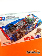 Tamiya: Model car kit 1/24 scale - Nissan R89C Calsonic #23, 24 - 24 Hours Le Mans 1989 - plastic model kit