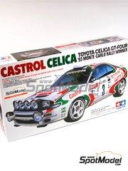 Tamiya: Maqueta de coche escala 1/24 - Toyota Celica GT-Four WRC Castrol Nº 3 - Didier Auriol (FR) + Bernard Occelli (FR), Juha Kankkunen (FI) + Juha Piironen (FI) - Rally de Montecarlo 1993 - maqueta de plástico