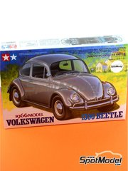 Tamiya: Model car kit 1/24 scale - Volkswagen Beetle 1300 1966 - plastic parts, water slide decals and assembly instructions