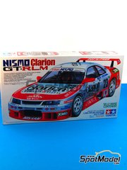 Tamiya: Model car kit 1/24 scale - Nissan Nismo GT-R Clarion #23 - 24 Hours Le Mans 1995 - plastic model kit