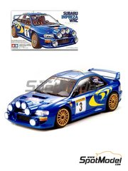 Tamiya: Model car kit 1/24 scale - Subaru Impreza WRC #3 - Colin McRae (GB) + Nicky Grist (GB) - Montecarlo Rally 1998 - plastic parts, water slide decals and assembly instructions