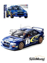 Tamiya: Model car kit 1/24 scale - Subaru Impreza WRC #5 - Richard Burns (GB) + Robert Reid (GB) - Tour de Corse 1999 - plastic parts, water slide decals and assembly instructions