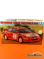 Tamiya: Model car kit 1/24 scale - Mitsubishi Lancer Evo VI Ralli Art #1 - Tommi Mäkinen (FI) + Risto Mannisenmäki (FI) - New Zealand rally 1999 - plastic model kit