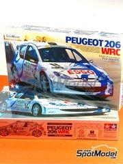 Tamiya: Maqueta de coche escala 1/24 - Peugeot 206 WRC Nº 14 - Francois Delecour (FR) + Daniel Grataloup (FR) - Rally Tour de Corse 1999 - maqueta de plástico