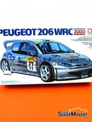 Tamiya: Model car kit 1/24 scale - Peugeot 206 WRC Clarion #17 - Marcus Grönholm (FI) + Timo Rautiainen (FI) - Montecarlo Rally - Rallye Automobile de Monte-Carlo 2006 - paint masks, plastic parts, rubber parts, water slide decals, other materials, assembly instructions and painting instructions