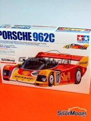 Tamiya: Maqueta de coche escala 1/24 - Porsche 962C  Dunlop Shell - 24 Horas de Le Mans - maqueta de plástico
