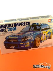 Tamiya: Model car kit 1/24 scale - Subaru Impreza WRC #5, 6, 18 - Markko Märtin (EE) + Michael Park (GB), Richard Burns (GB) + Robert Reid (GB) - Montecarlo Rally - Rallye Automobile de Monte-Carlo 2001 - plastic model kit