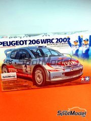 Tamiya: Model car kit 1/24 scale - Peugeot 206 WRC