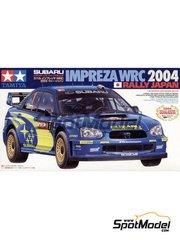 Tamiya: Maqueta de coche escala 1/24 - Subaru Impreza WRC Nº 1 - Mikko Hirvonen (FI), Petter Solberg (NO) - Rally de Japon 2004