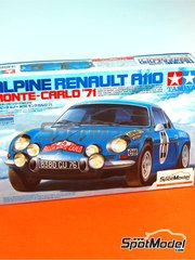Tamiya: Model car kit 1/24 scale - Renault Alpine A110 #28 - Ove Andersson (SE) + David Stone (GB), Jean-Claude Andruet (FR) + Michel Vial (FR) - Montecarlo Rally - Rallye Automobile de Monte-Carlo 1971 - plastic model kit