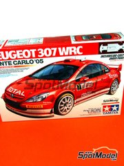 Tamiya: Model car kit 1/24 scale - Peugeot 307 WRC Clarion Total #7 - Marcus Grönholm (FI), Timo Rautiainen (FI) - Montecarlo Rally 2005 - metal parts, plastic parts, water slide decals and assembly instructions