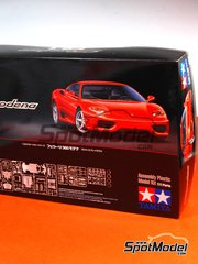 Tamiya: Model car kit 1/24 scale - Ferrari 360 Modena - paint masks, plastic parts, rubber parts, water slide decals, assembly instructions and painting instructions