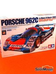 Tamiya: Maqueta de coche escala 1/24 - Porsche 962C  Repsol Nº 16 - Jesús Pareja (ES) + Walter Brun (CH) + Oscar Larrauri (AR) - 24 Horas de Le Mans 1990