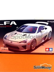Tamiya: Model car kit 1/24 scale - Lexus LFA - photo-etched parts, plastic parts, rubber parts, water slide decals and assembly instructions