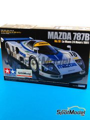 Tamiya: Model car kit 1/24 scale - Mazda 787B Cibie #18 - Stefan Johansson (SE) + Dave Kennedy (IE) + Maurizio Sandro Sala (BR) - 24 Hours Le Mans 1991 - plastic model kit