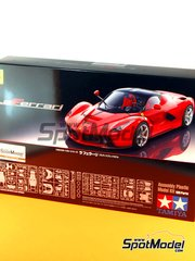 Tamiya: Model car kit 1/24 scale - Ferrari Laferrari - paint masks, plastic parts, water slide decals, other materials and assembly instructions