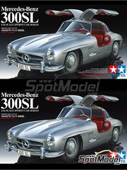 Tamiya: Model car kit 1/24 scale - Mercedes-Benz 300SL - plastic model kit