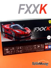Tamiya: Model car kit 1/24 scale - Ferrari FXX K - plastic parts, rubber parts, water slide decals, assembly instructions and painting instructions