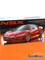 Tamiya: Model car kit 1/24 scale - Honda Acura NSX - plastic parts, rubber parts, water slide decals and assembly instructions