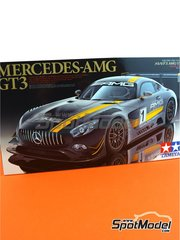Tamiya: Model car kit 1/24 scale - Mercedes Benz AMG GT3 - plastic parts, rubber parts, water slide decals and assembly instructions