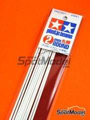 Tamiya: Material - Circular 2mm stick  - plastic parts - 10 units