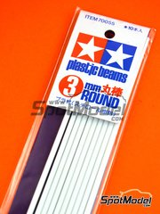 Tamiya: Material - Circular stick 3mm - plastic parts - 10 units