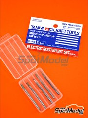 Tamiya: Tools 1/24 scale - Electric router bit set - metal parts - 5 units