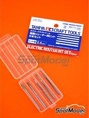 Tamiya: Herramientas escala 1/24 - Fresas de diamante - piezas de metal - 5 unidades