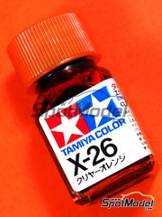 Tamiya: Enamel paint - X-26 - Clear orange - 10ml image