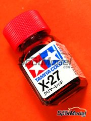 Tamiya: Enamel paint - X-27 - Clear Red - 10ml image
