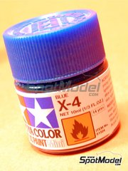 Tamiya: Acrylic paint - Blue X-4 - 1 x 10ml