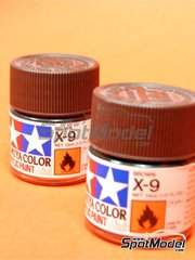 Tamiya: Pintura acrílica - Marron X-9 Brown - 1 x 10ml